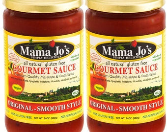 Mama Jo's Spaghetti Sauce. Pasta Sauce. All Natural Gluten Free - Tropical Exotic Flavor. Very Delicious!!! Mild - Not Spicy.  (2 Pack)