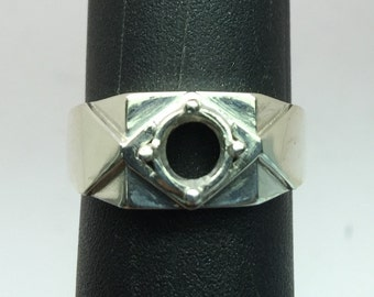 6mm Round Silver Setting