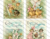 Easter Images #7 - Printable Digital Collage Sheets 5-Pack - Instant JPEG Downloads