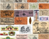 5 Pages of Assorted Vintage Ephemera #2 - Printable Digital Collage Sheets - Instant JPEG Downloads
