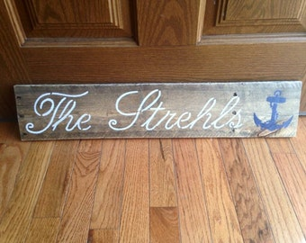 Family name sign/ reclaimed wood sign