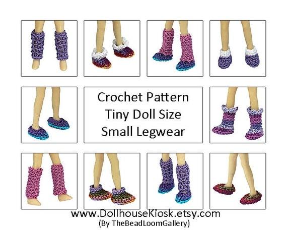 How To Make Crochet Amigurumi Patterns : Crochet Pattern Miniature Doll Size Legwear Mini Pullip