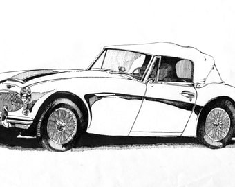 Austin Healey Print - your choice of paper