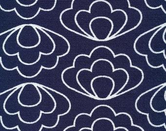 Ripple Navy - Time Warp - Cloud9 Fabrics - Organic Cotton - Barkcloth by the Yard