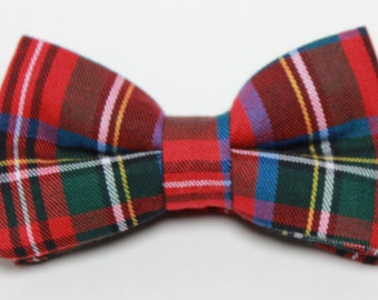 Red Plaid Boy's Bow Tie