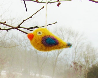 Needle-felted Bird Ornament