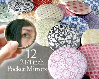 12 Bulk Pocket Mirrors Baby Bridal Shower Favors