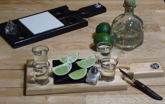Tequila Flight Cutting Board