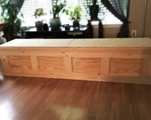 Custom Window Bench with Storage (bare wood/unfinished)