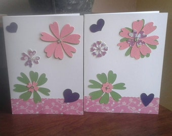 Two Floral Greeting Cards