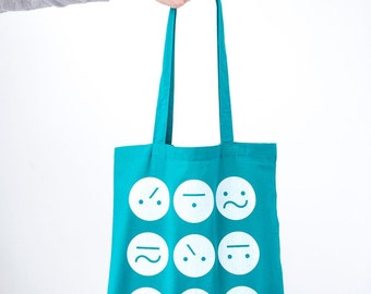Teal Frown Bag