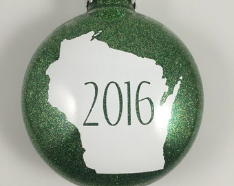 Christmas Ornament - Customizable State Ornament - Nebraska Christmas - 2017 Ornament