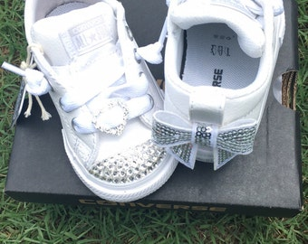 Converse Bling infant/toddler white leather
