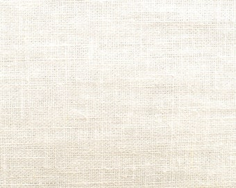 Linen natural - color: cream-white - 100% natural fiber - 0.5 m