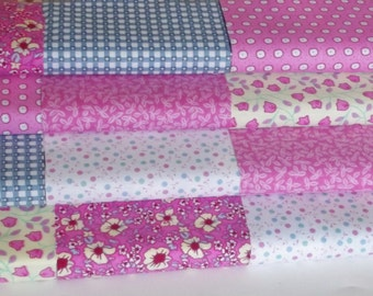 30 or 50 4 inch Fabric Patchwork Squares Quilting Pack- 100% Cotton