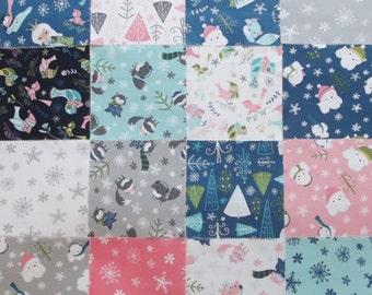 Christmas Winter Wonderland 5 inch Fabric Charm Pack