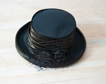 Black Hat /Top Hat/Kangol Hat/Occasions Hat/Steampunk Hat/Retro hat