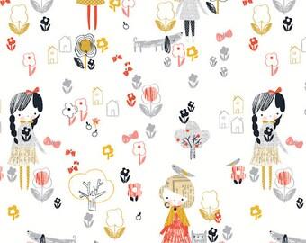 Dashwood Studio Mori Girls 1146 Little Girl Fabric