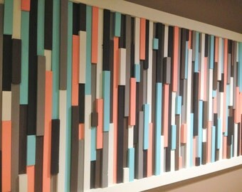 """Abstract Wood Stripes, """"Cotton Candy"""""""