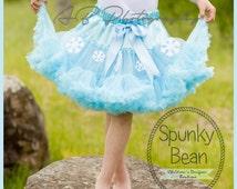 Snowflake Snow Queen Pettiskirt, Petticoat, ruffle baby skirt, baby tutu, fancy girls tutu, Frozen Inspired tutu, Photographer Prop