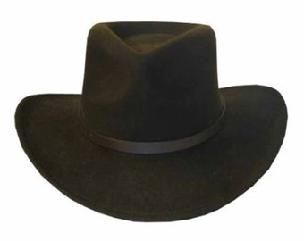 BENTLEY OUTBACK Crushable Outback Wool Felt Hat Fedora
