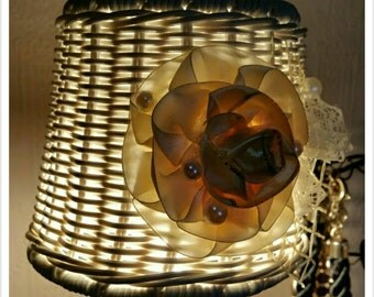 The small lampshade with handmade flower