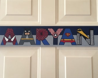 Superhero Door Name Plate