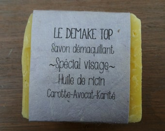 """The """"top Demake"""" cleansing SOAP with carrot juice, castor oil, avocado and Shea"""