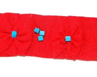 Retro fabric Cuff Bracelet