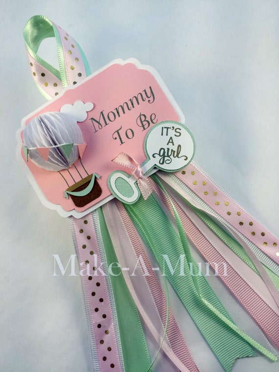 Baby Shower Favors Hot Air Balloons ~ Hot air balloon baby shower corsage favors by