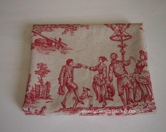 Torchon - Toile de Jouy in cotton/linen