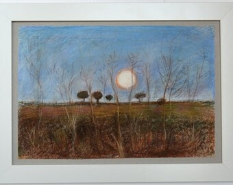 original painting/ handmade painting/colorful painting/ moon painting /pastel painting