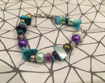 Handmade unique beaded bracelet