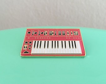 Synth Keyboard Enamel Pin - 3rd Edition (Red)