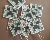 Cupcake Toppers, Minecraft Cake Toppers