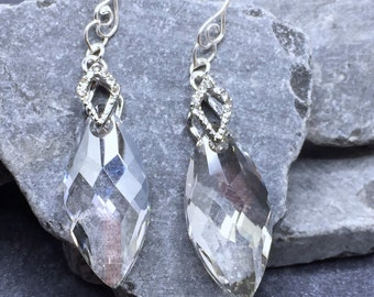 Iced Swarovski Crystal Earrings