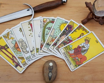 Your Year Ahead- 13 Card Tarot Card Reading - Divination / Psychic Reading / Pagan / Shaman