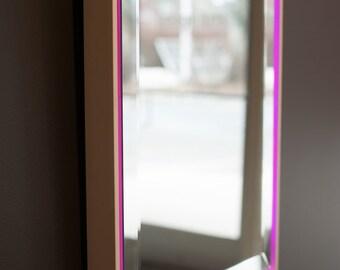 Back Lit Mirror in Floating Frame
