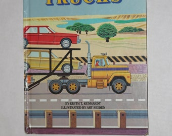 All Kinds of Trucks Big Golden Book - 1984
