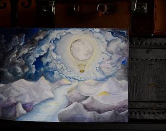 Reise mit dem Mondballon