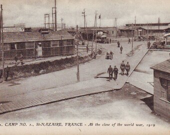 1919 Post Card St. Nazatre, France at the Close of World War 1. WWI. Unused