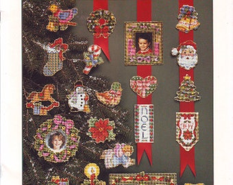 Beautiful Christmas Designs Counted Cross Stitch Leaflet by Dimensions in 1992
