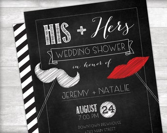 His + Hers Wedding Shower Invitation Printable