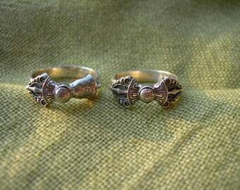 Vajrayana Handmade Couple of Rings. Dorje and bell. Tantric. Buddhist ring. Dzogchen. Buddhism. Buddha. Tibetan buddhism. Tibet. Bhutan.