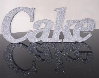 Glitter Cake Sign