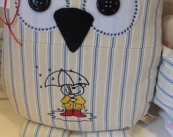 Rainy Days Owl cushion