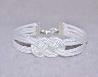 Sailors Knot Bracelet/ Nautical Rope Bracelet/ Infinity Knot Bracelet/ Knot Bracelet/ Knotted Rope Bracelet/Tie The Knot/Rope Jewelry