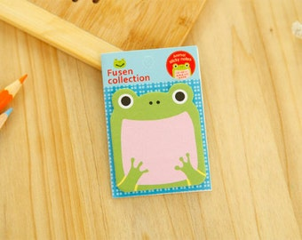 Stationery / School Supplies / Frog Sticky Notes / Animal Sticky Notes / Frog Stationery / Cute Sticky Notes / Frogs / Kawaii Sticky Notes