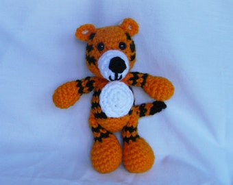 Tino the Tiger - crochet amigurumi stuffed toy