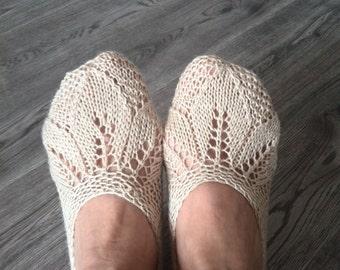 """Home slippers """"Three leaf"""""""